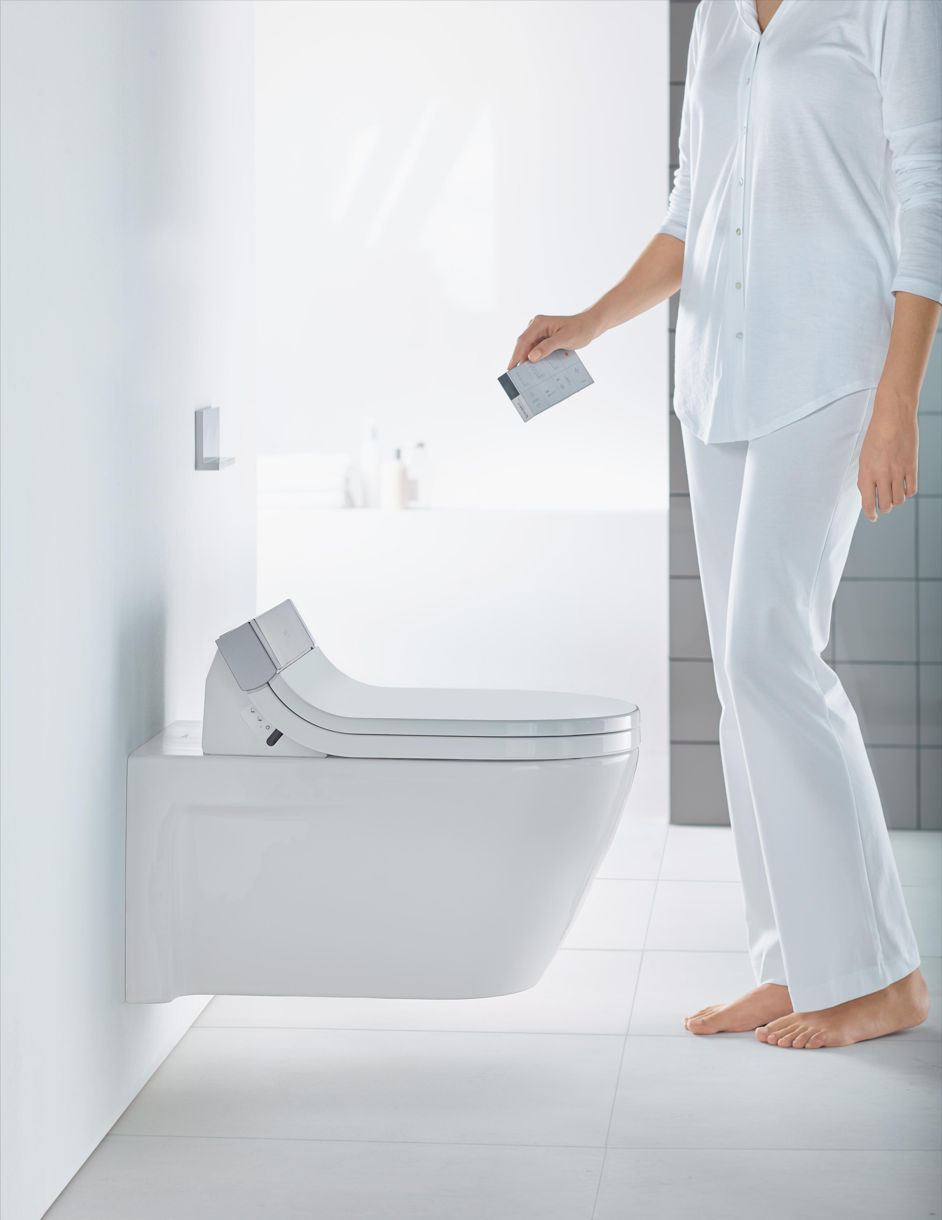 sensowash wc sits med hygiendusch duravit. Black Bedroom Furniture Sets. Home Design Ideas